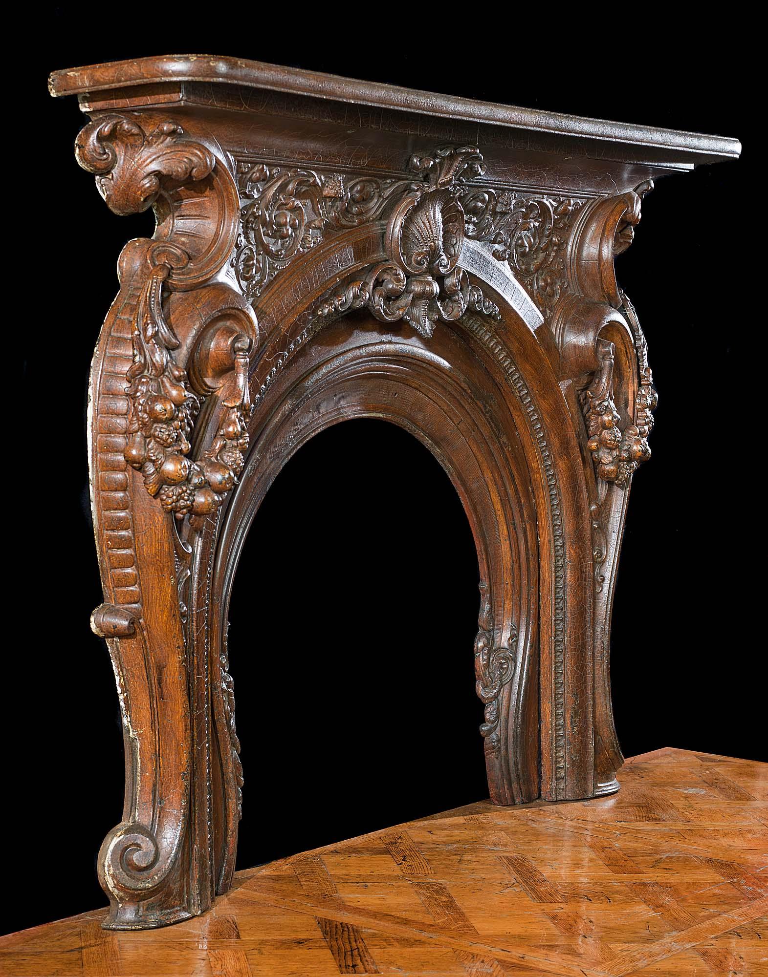 Victorian Cast Iron Rococo Fireplace Mantel Westland London