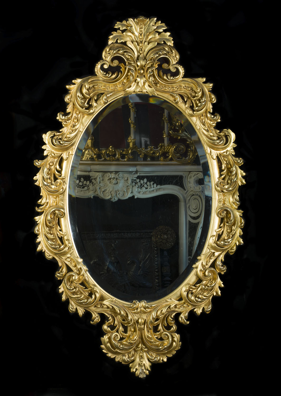 Rococo Giltwood Ornate Antique Wall Mirror Westland London