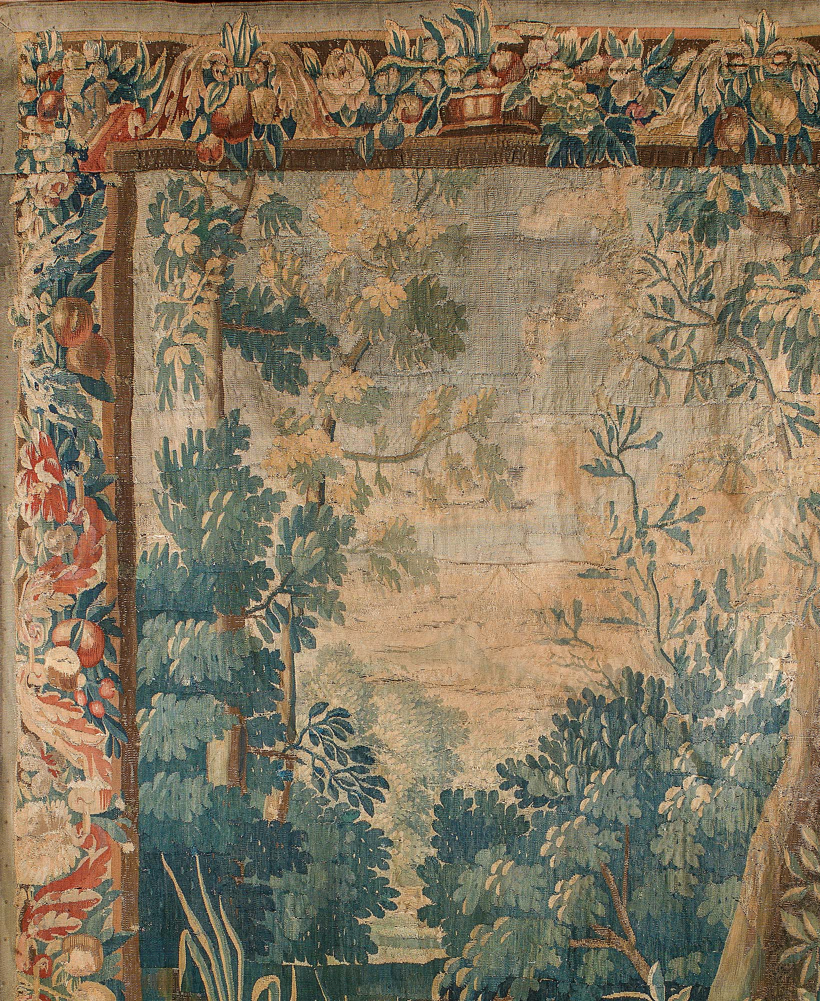 An 18th century Verdure Aubusson antique Tapestry