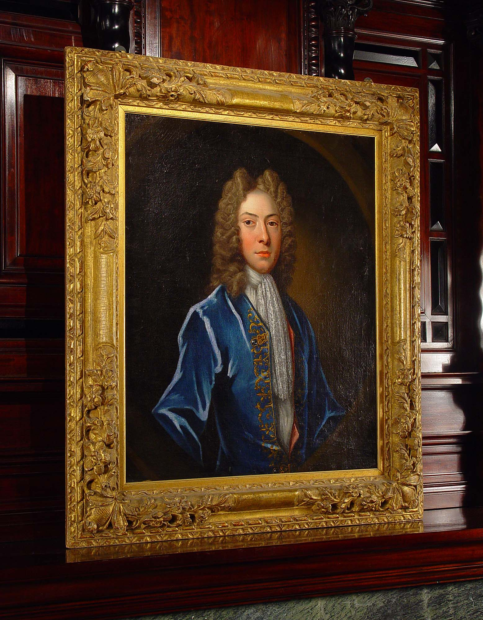 An Antique 17th early 18th century portrait oil on canvas