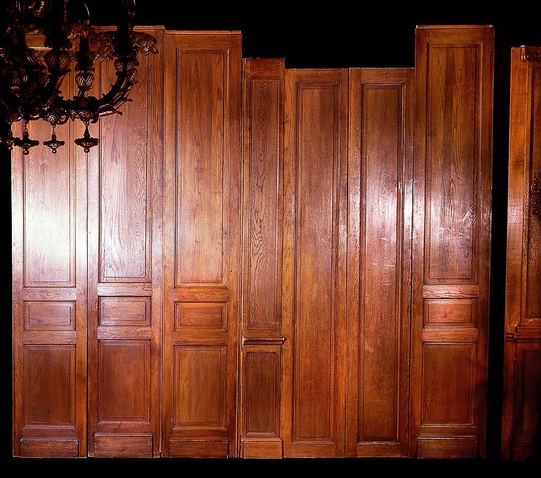 Antique Carved Oak Wood French Panelling Westland London