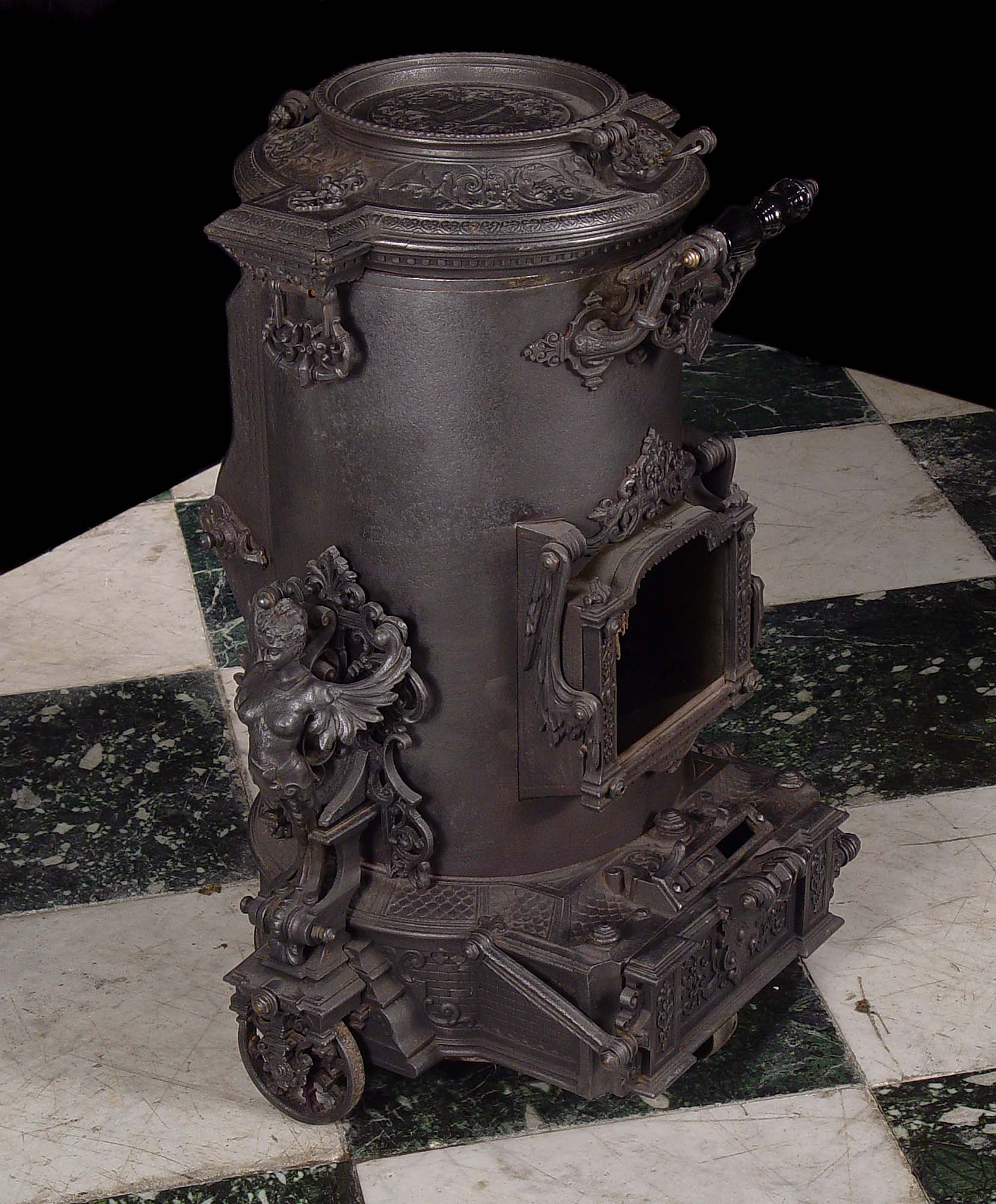 Antique French Cast Iron Stove