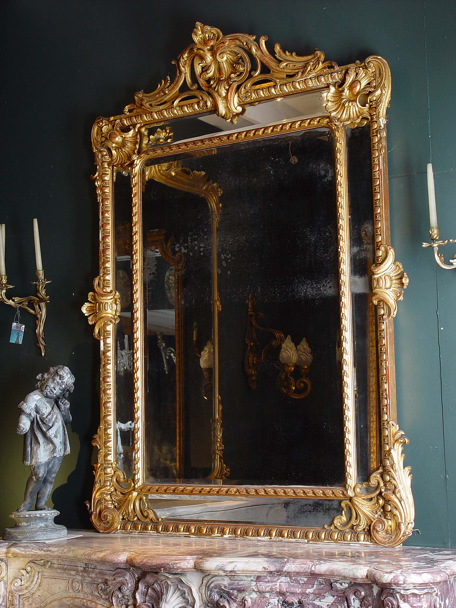 Gorgeous mirrors on pinterest antique mirrors french for Big room mirror