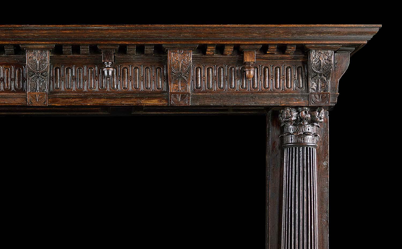 French Renaissance Oak Wood Fireplace Westland Antiques