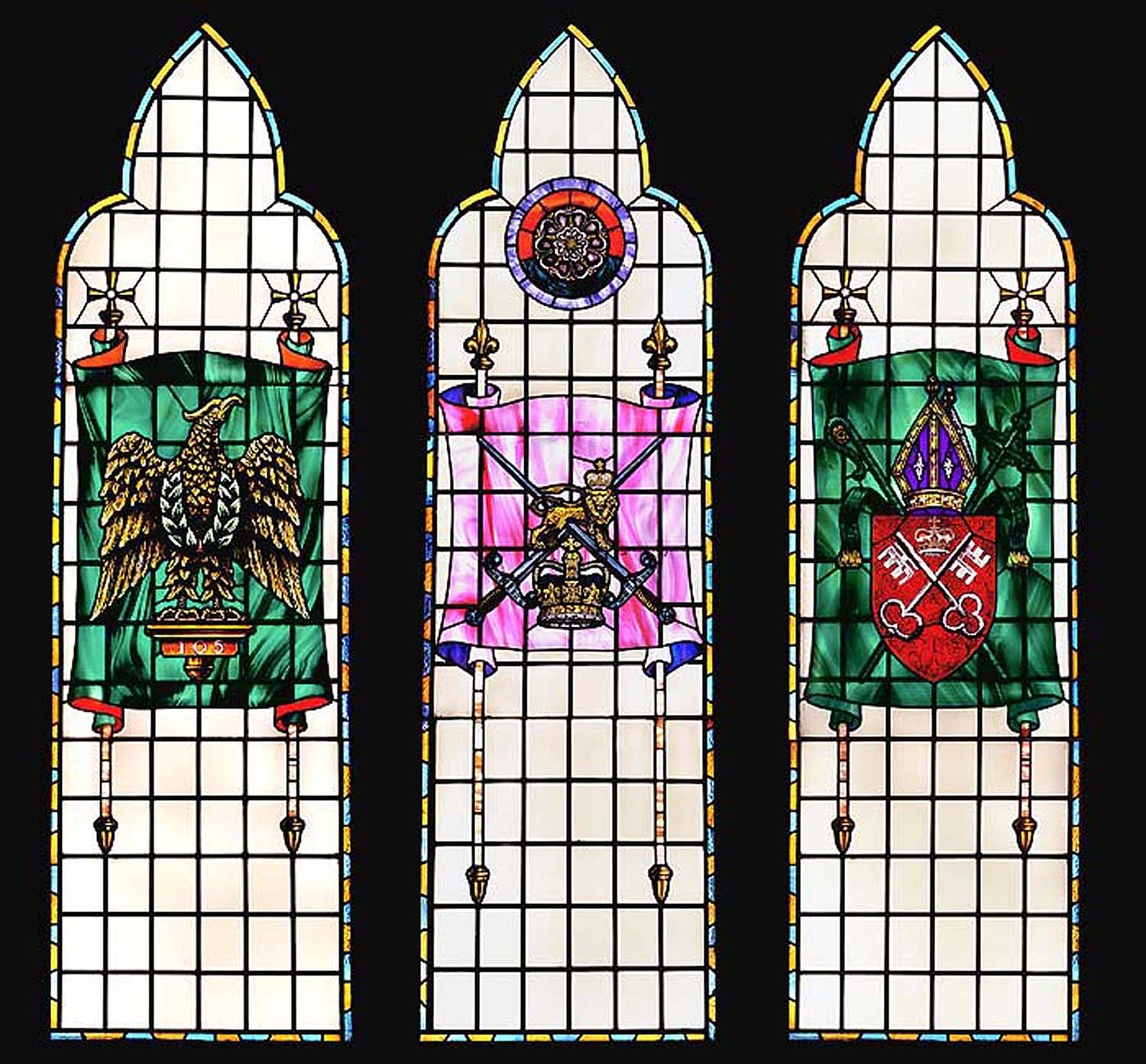 Blues & Royals Stained Glass Windows