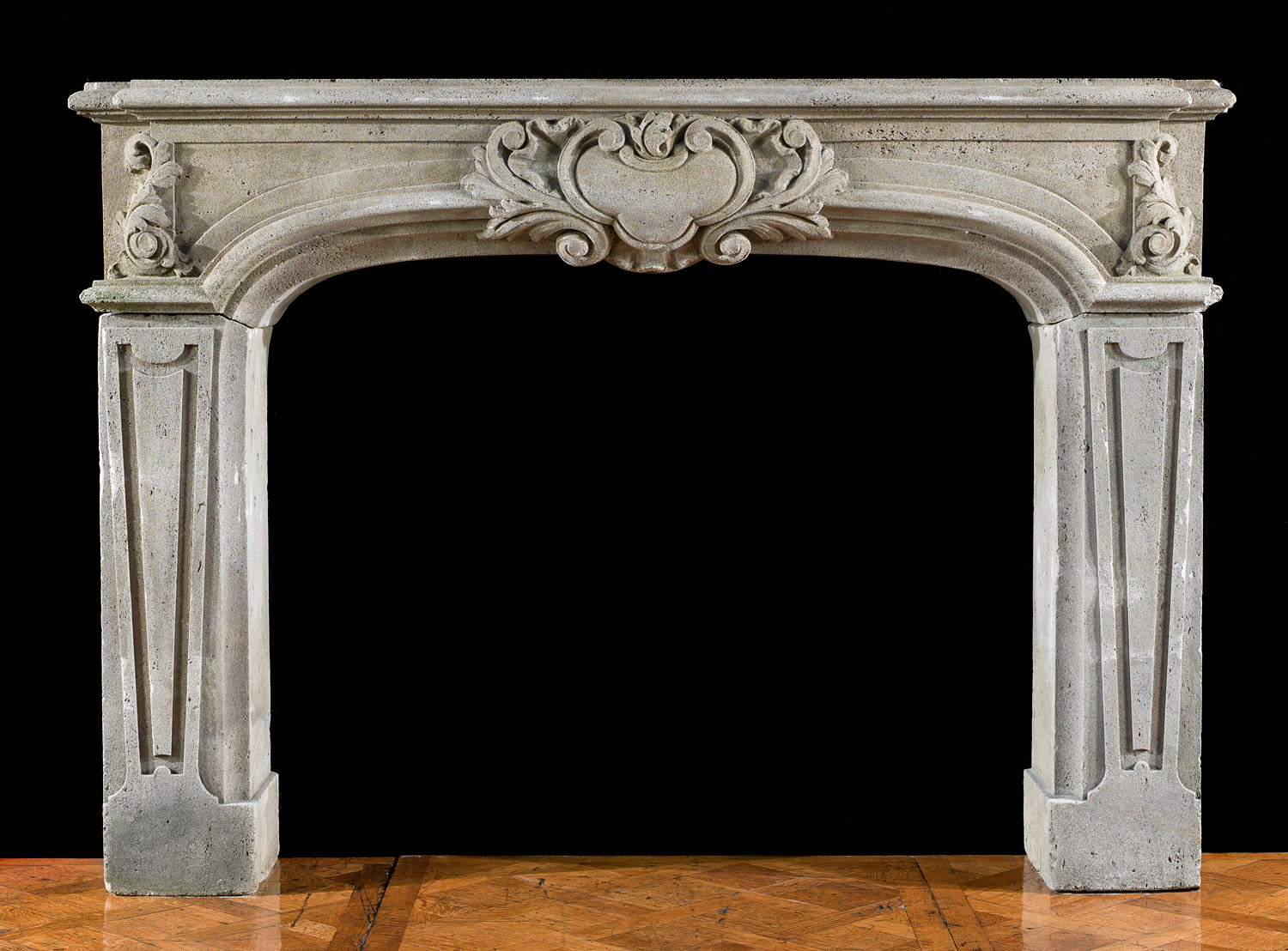 Antique Stone Baroque Fireplace Mantel Westland Antiques