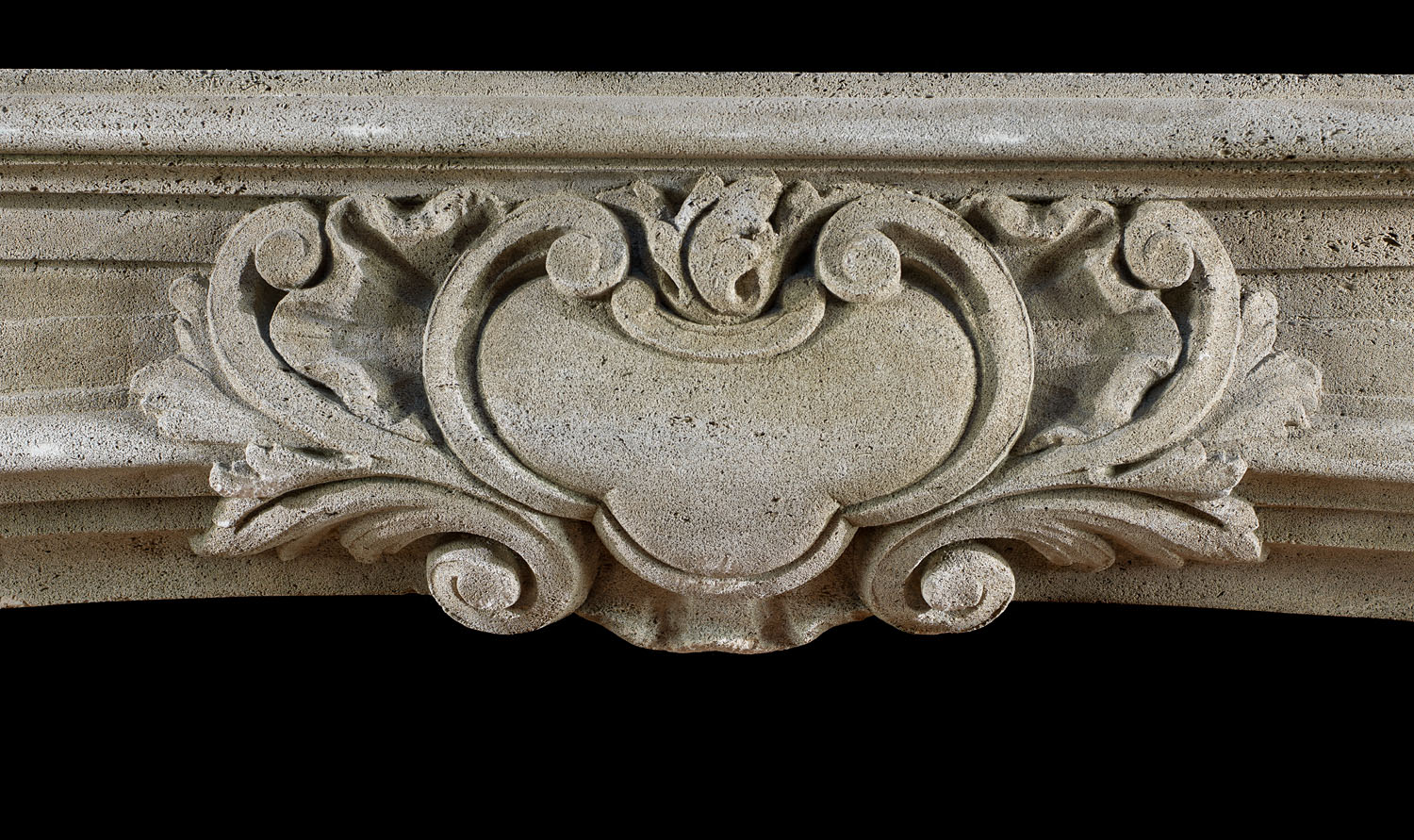 Antique Baroque style French Stone Chimneypiece