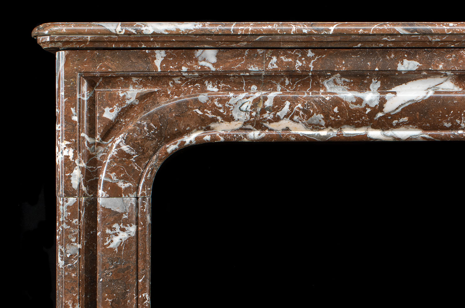 French Rouge Royale Marble Antique Fireplace Westland London