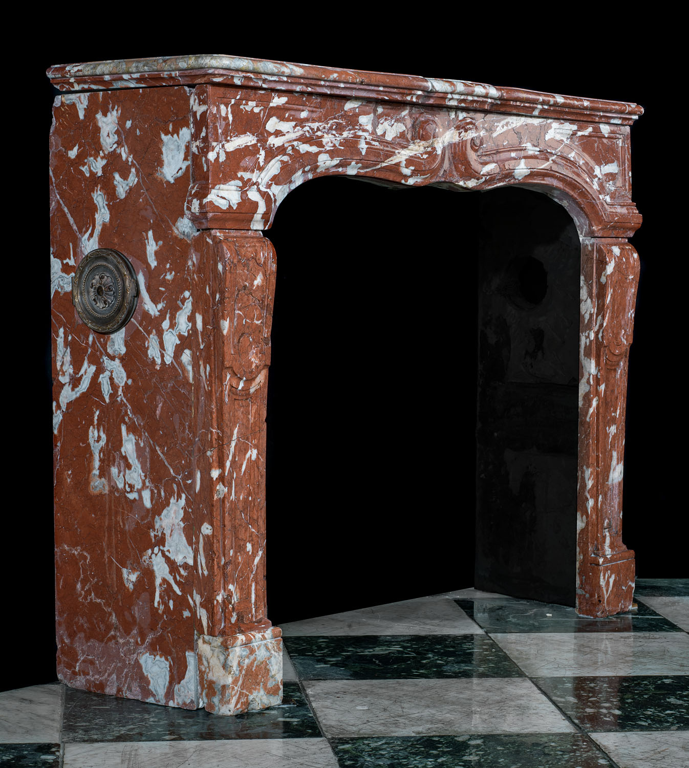Languedoc French Red Marble Fireplace Mantel Westland London