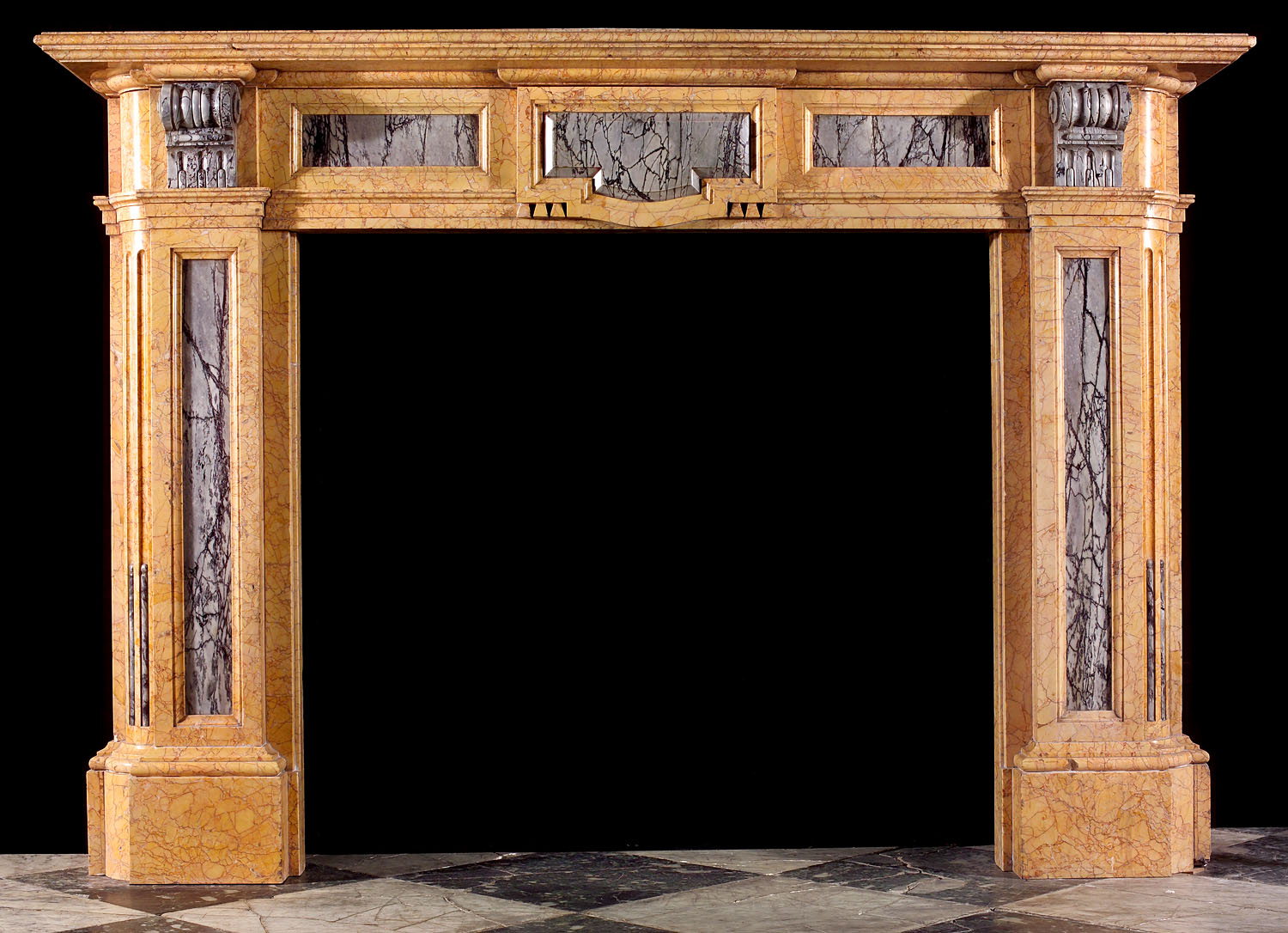 A Victorian antique marble fireplace surround