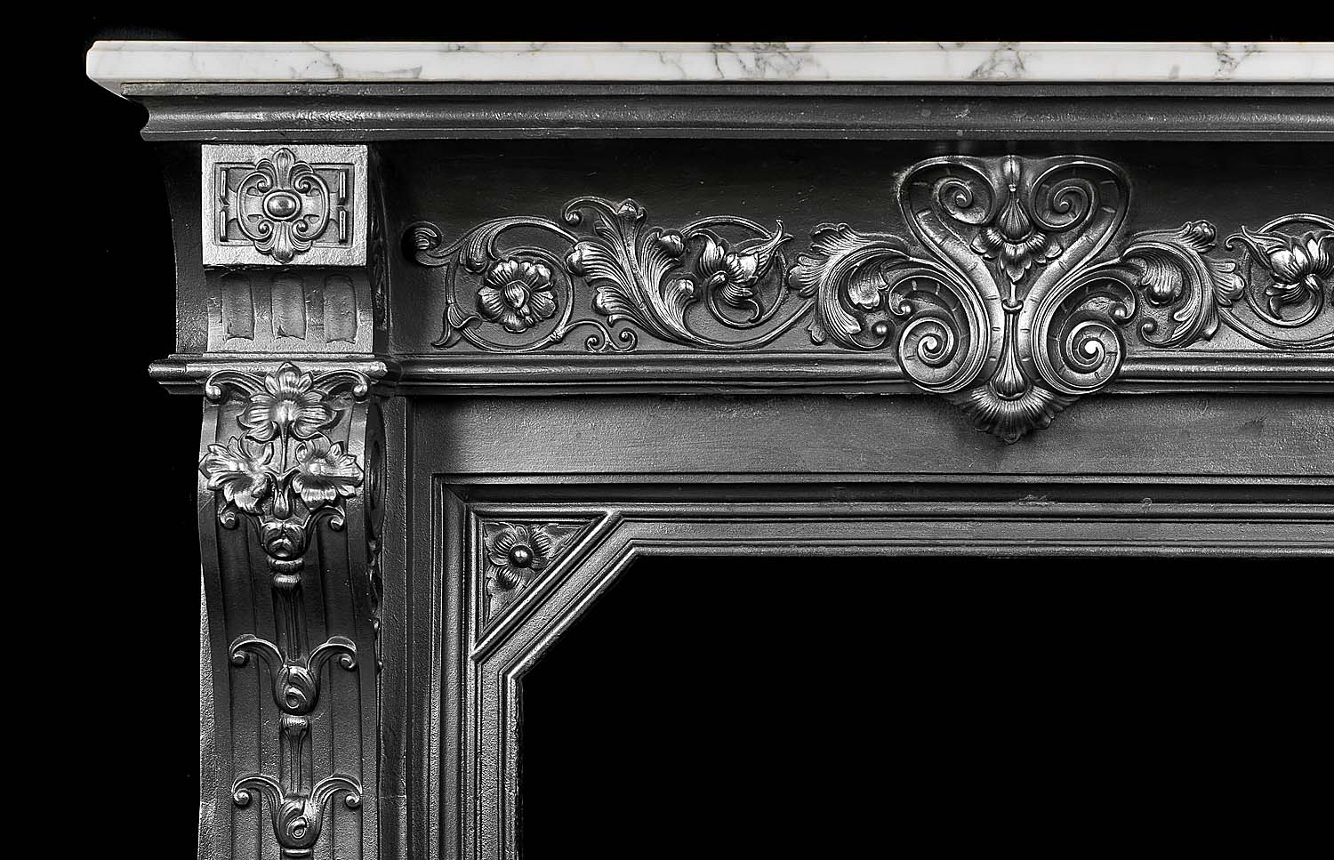 French Regency Style Cast Iron Fireplace Westland Antiques