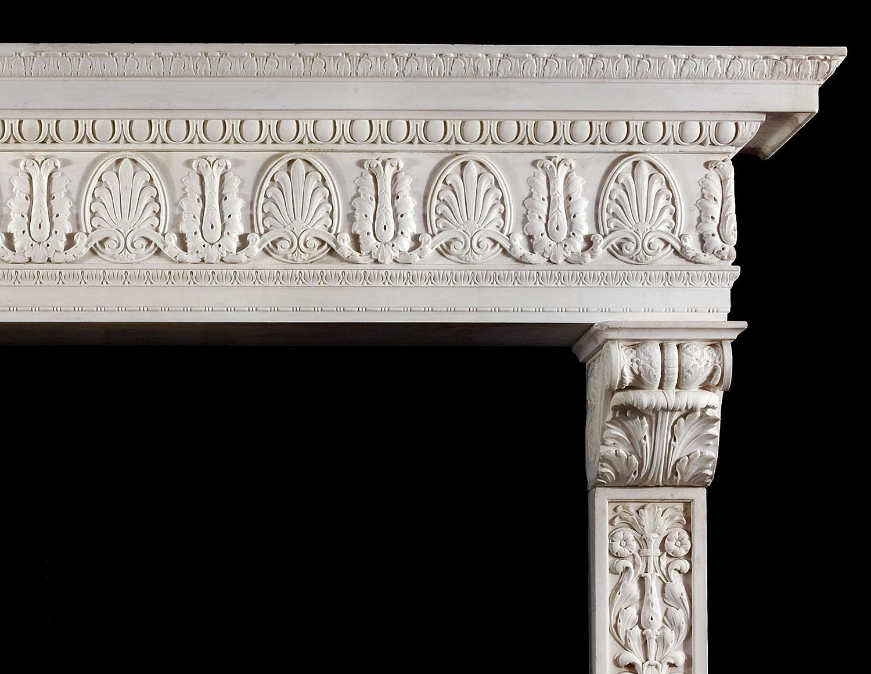 Renaissance Statuary Marble Fireplace Westland Antiques