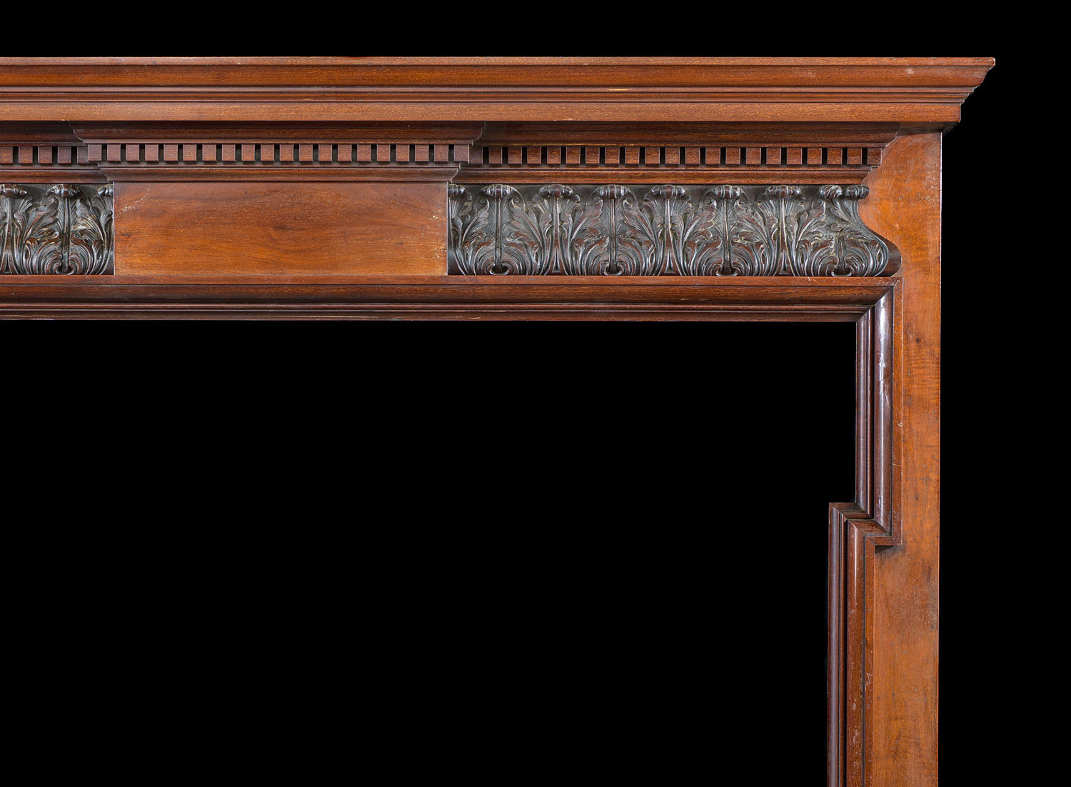 Antique Mahogany Georgian style carved wood Chimneypiece