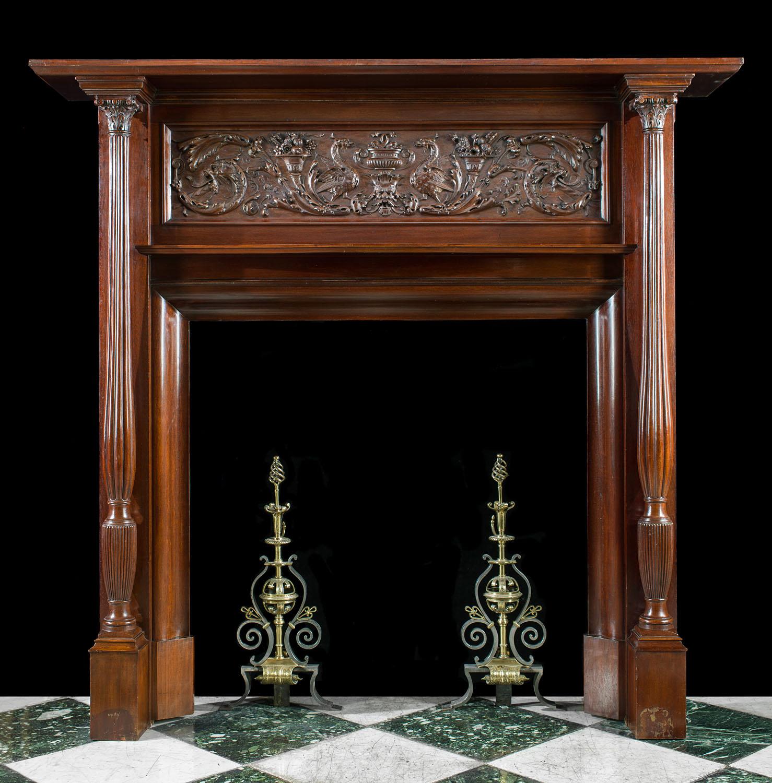 Renaissance Revival Wood Fireplace Westland Antiques