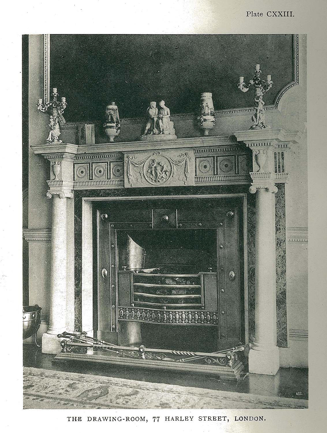 A stunning 18th century Marble Columned antique Chimneypiece