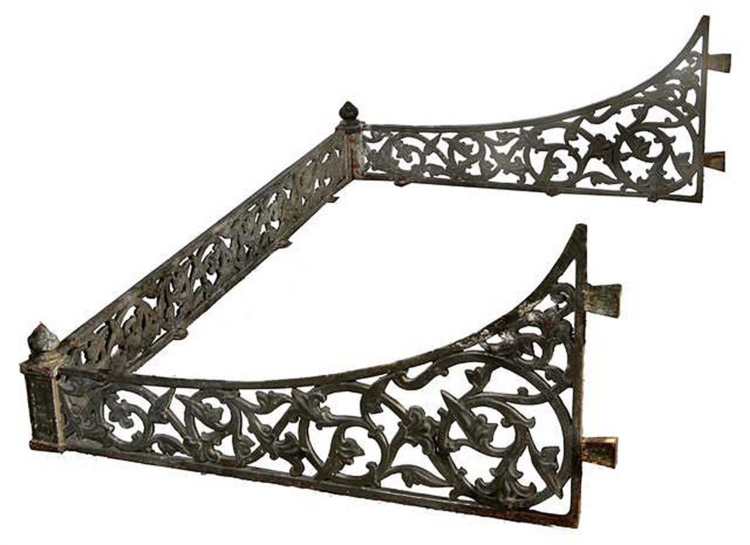 Antique Victorian Porch Canopy in Cast Iron