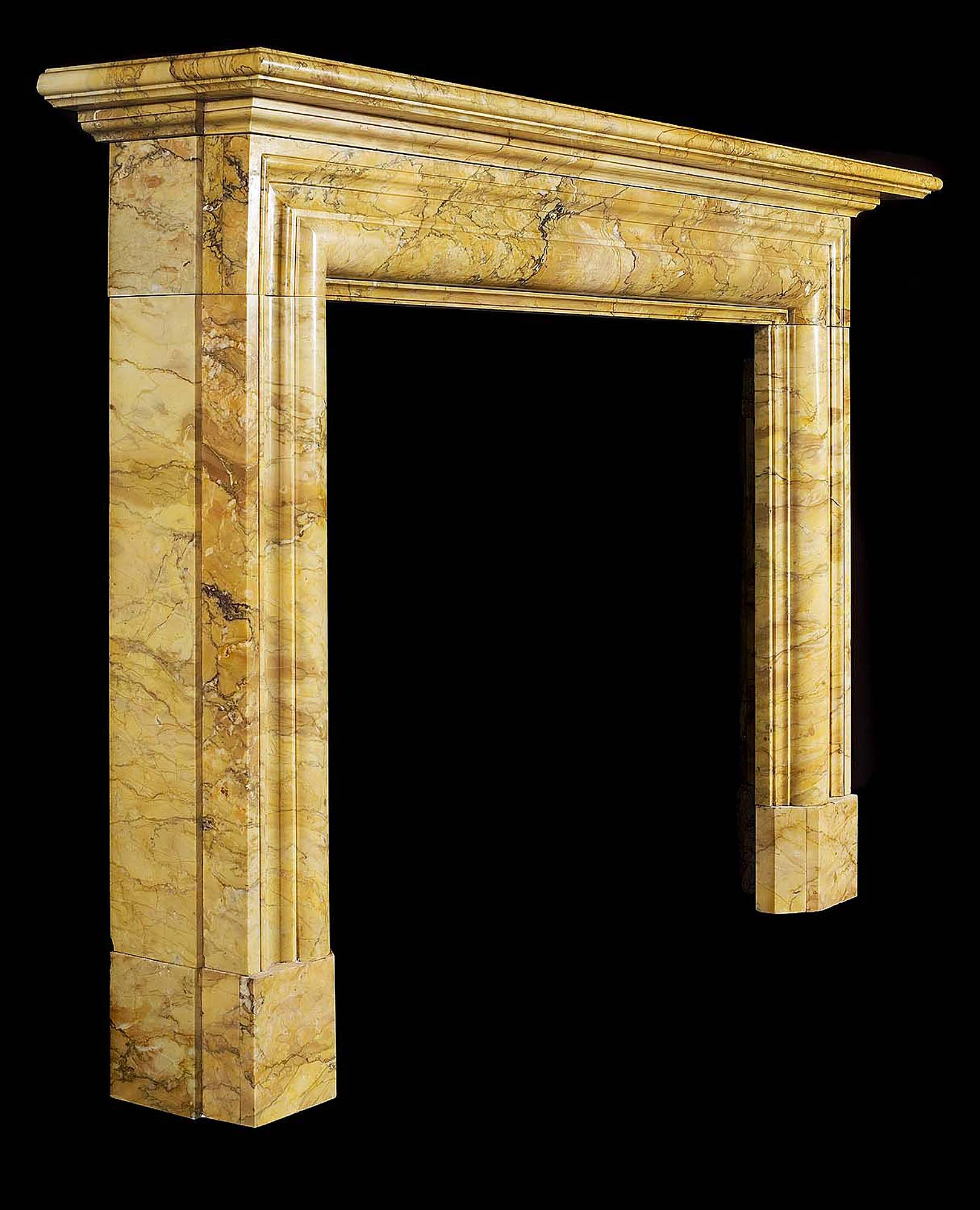 A Scottish Victorian antique marble fireplace in the Baroque manner