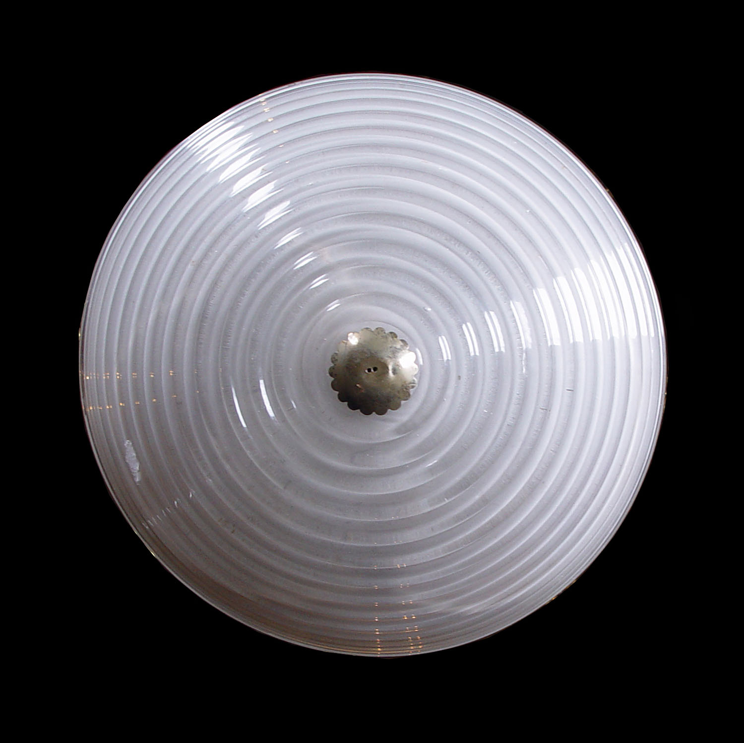 Art Deco Spiral Glass Ceiling Light Westland London
