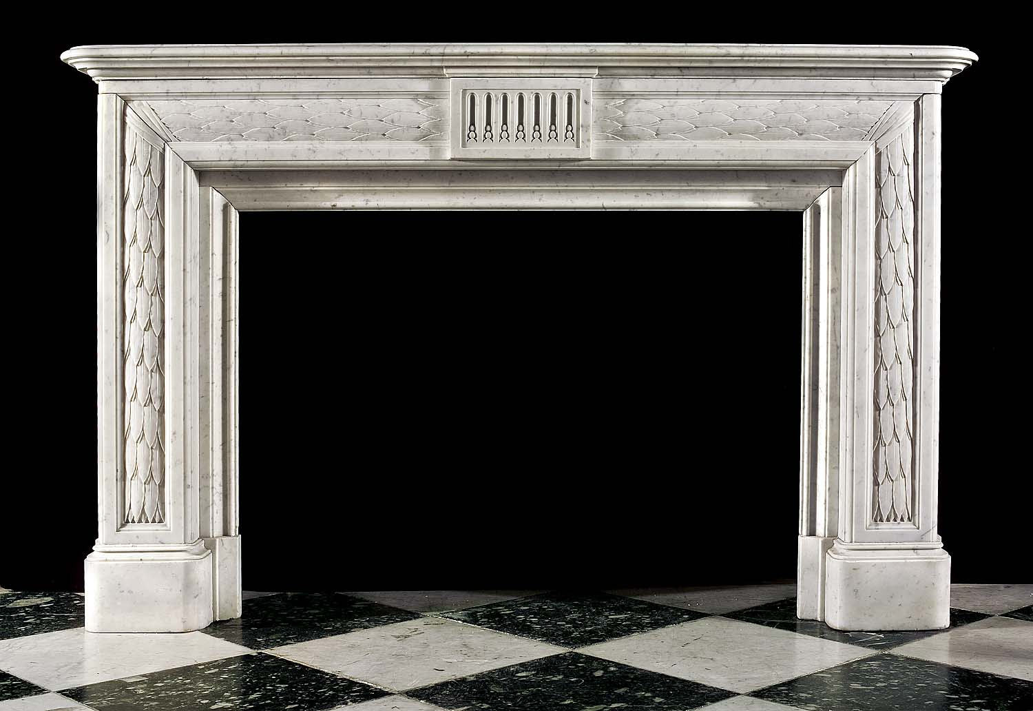 An Attractive French Empire Marble Antique Mantelpiece
