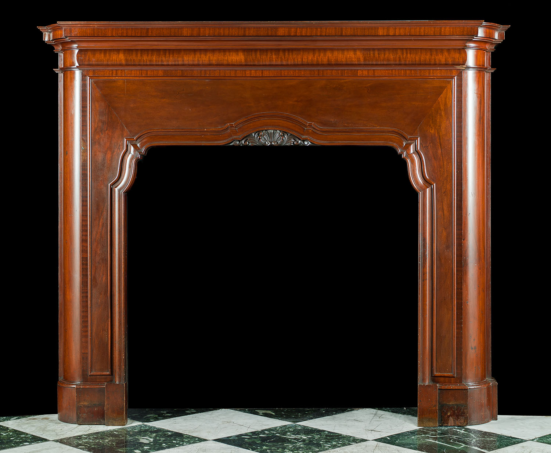 Baroque Style Art Deco Wood Chimneypiece Westland London