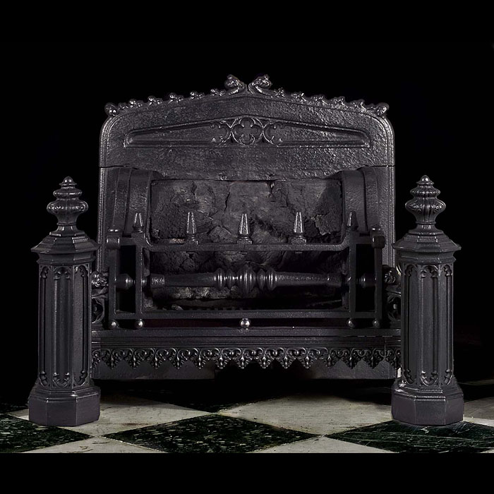 Antique Neo Gothic Regency fire basket