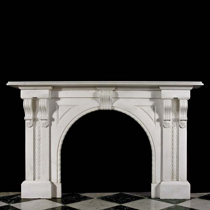 An Italian Marble Arched Fire Surround