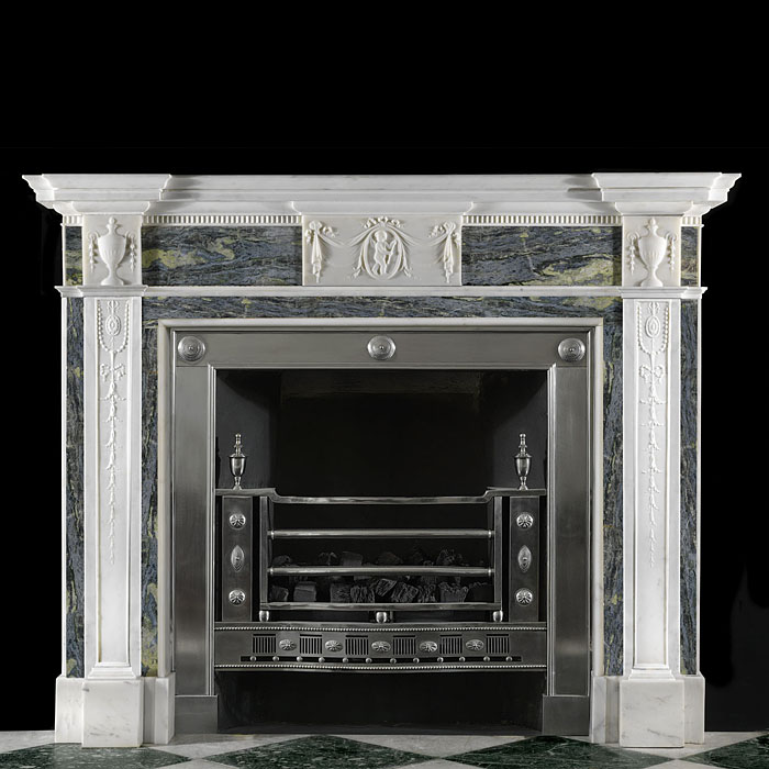 Statuary and Connemara Marble Georgian fireplace surround