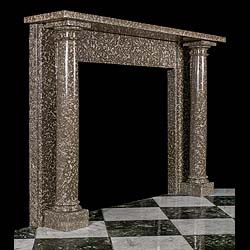 A grey fossil marble Regency antique fireplace