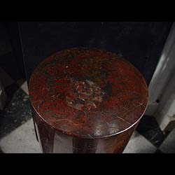 Victorian Rouge Antique Burgundy Marble pedestal