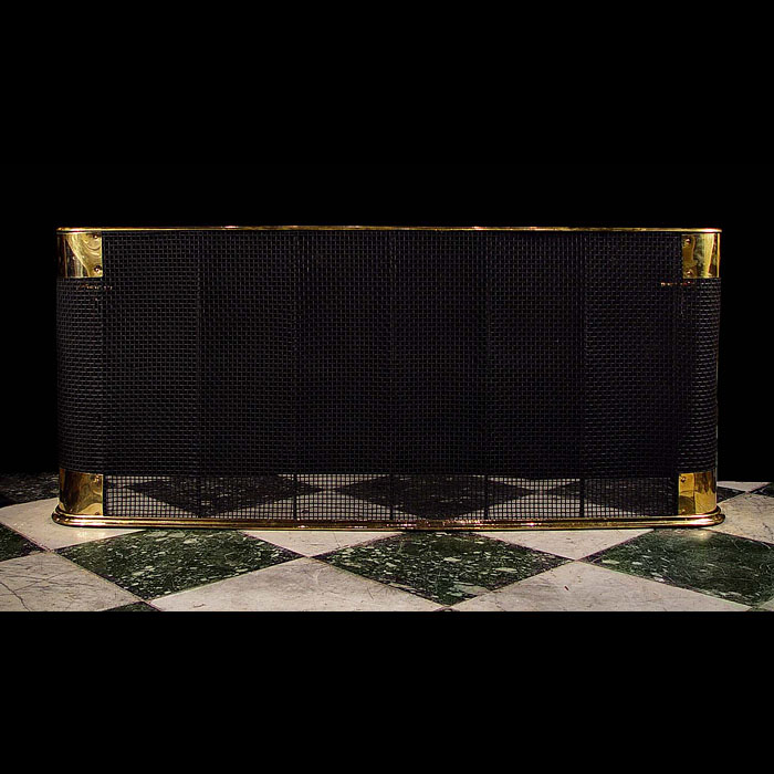 Victorian brass and wire nursery fireplace fender