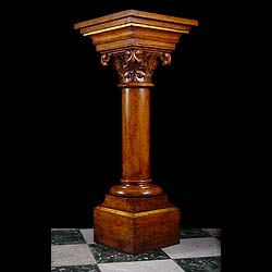 A Gothic Revival wood pedestal