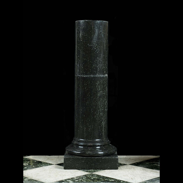 A Black Granite Column Plinth