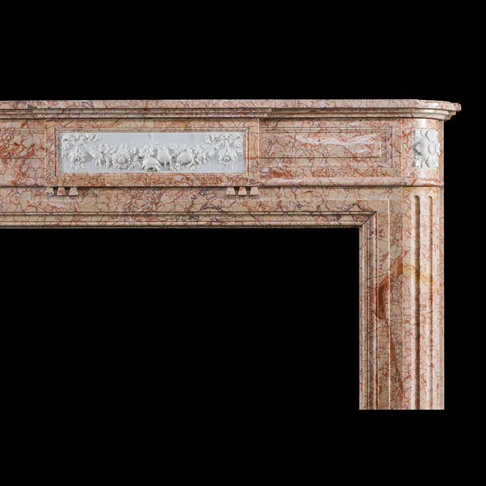 A Louis XVI Buixcarro Crema Marble ireplace Surround