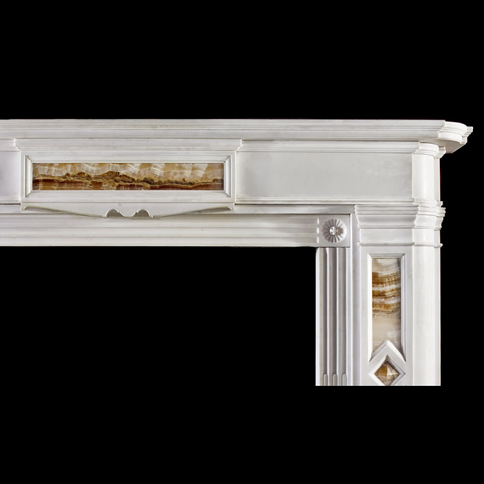 An antique Scottish Regency Cippolino Onyx and Bianco Pi Chimneypiece