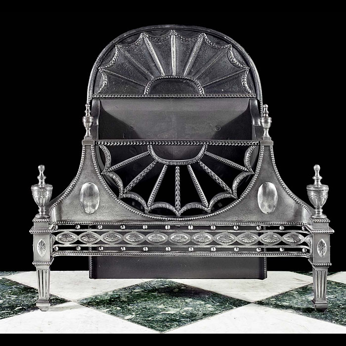 A cast iron Regency antique Fire Basket