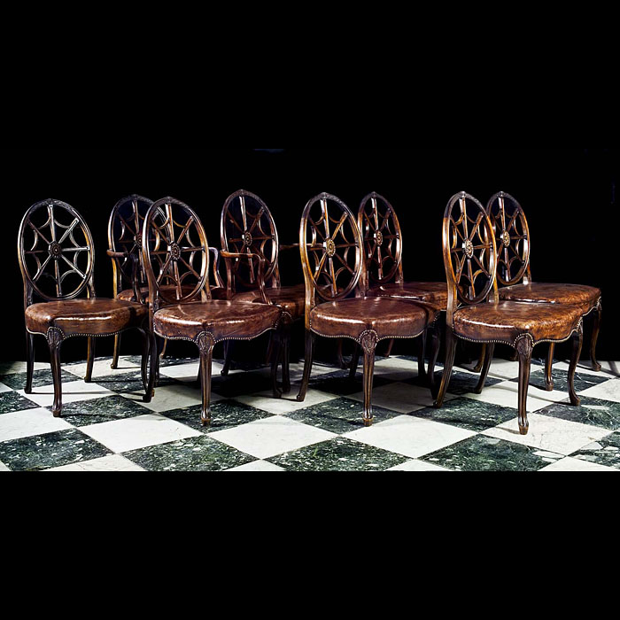 Georgian style set of eight mahogany dining chairs
