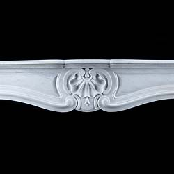 An Antique Carrara Marble Rococo Fireplace Surround