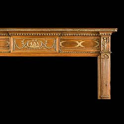 Antique Early 19th century Pine & Gesso Georgian Carved Pine Chimneypiece