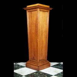 A Large Arts & Crafts Style Oak Pedestal