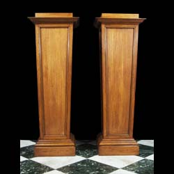 A 20th century Arts & Crafts style oak pedestal