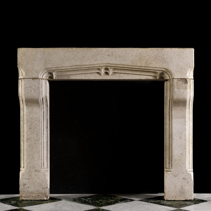 An Arts & Crafts Antique Stone Chimneypiece