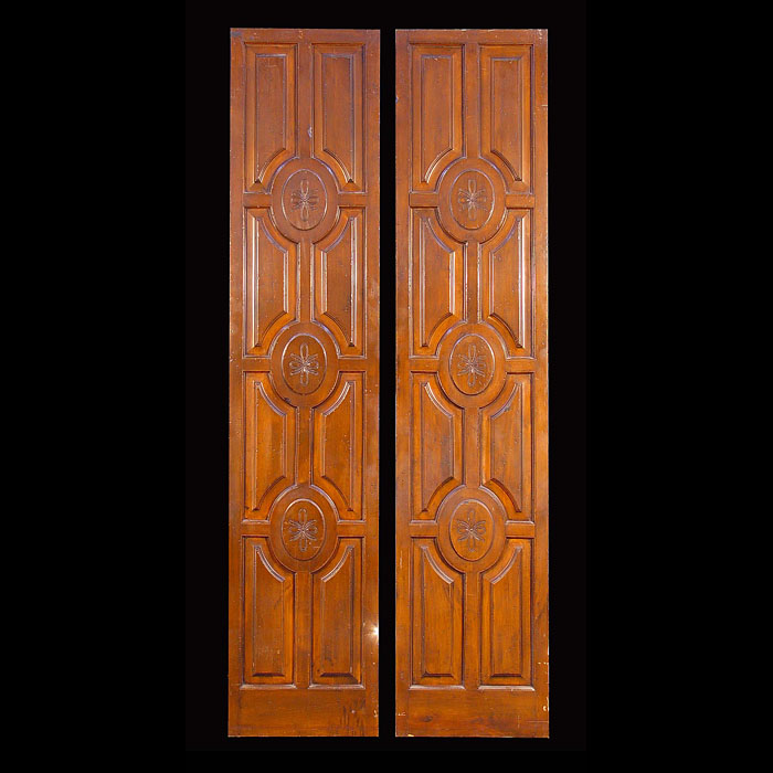 A set of late 19th century mahogany panels