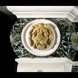 An imposing Palladian style antique marble fireplace