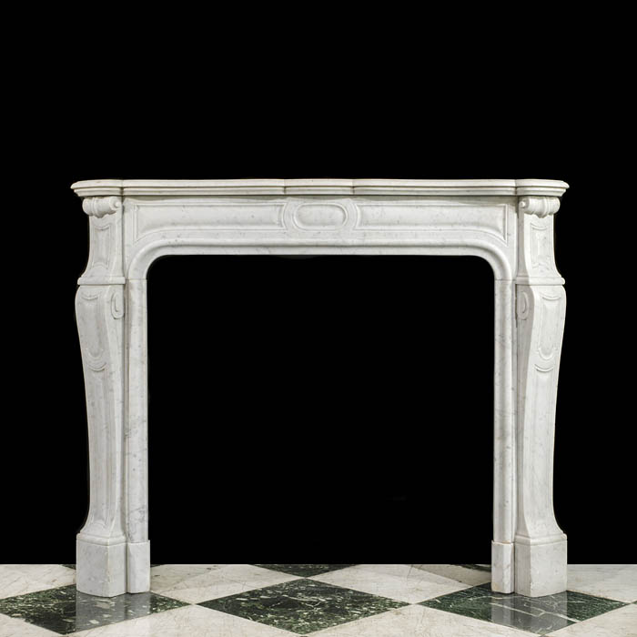 A French Rococo  small antique marble chimneypiece