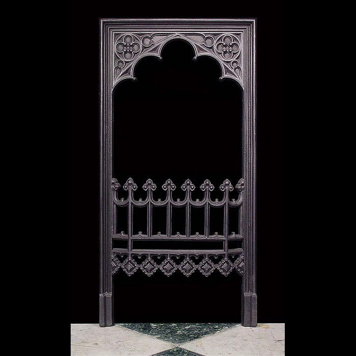 An Antique Puginesque Gothic style Fireplace Insert