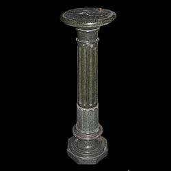 A tall 19th century marble pedestal