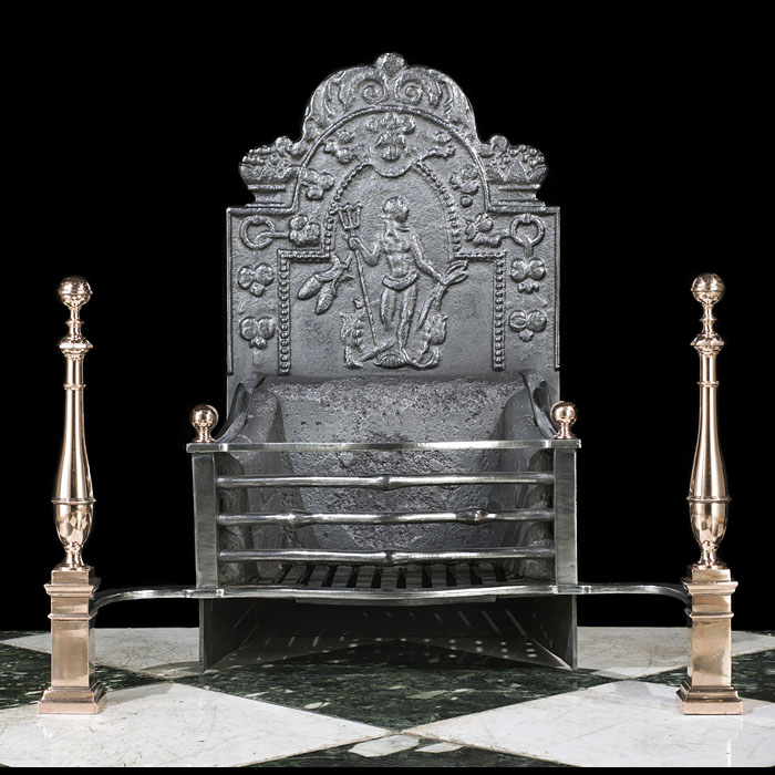 A Baroque Style Kennedy Clan Fire Grate
