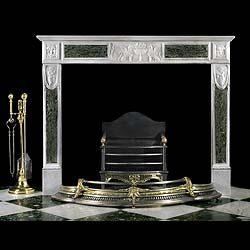 A Neoclassical Italian Marble Chimneypiece