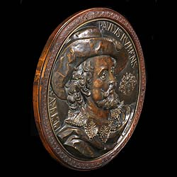 A 20th century French copper plaque of Rubens