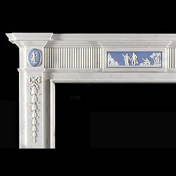 Statuary Marble Georgian Chimneypiece with Wedgwood Plaque